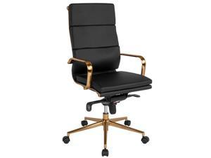 Super High Back Black Leather Executive Swivel Chair With Lumbar Pillow And Arms Pdpeps Interior Chair Design Pdpepsorg