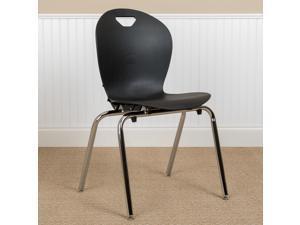 Advantage Titan Black Student Stack School Chair - 18-inch