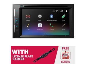 Pioneer AVH-241EX 6.2 Inch Digital Media & DVD Receiver w/ License Plate Camera