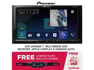 Pioneer AVH-W4400NEX DVD/CD Receiver with wired and wireless CarPlay and  Android Auto, AM/FM tuner, detachable 7
