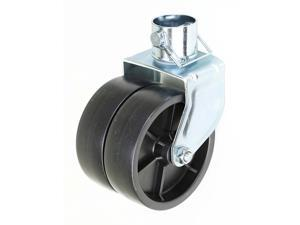 "New 6"" Dual Trailer Swirl Jack Caster Wheel With Pin"
