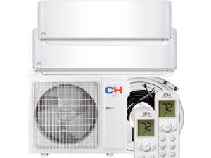 Cooper&Hunter 18000 Dual Zone 9K+12K Ductless Mini Split Air Conditioner Heat Pump with 25FT Installation Kits
