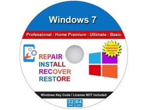 Windows 7 All Versions Professional Home Premium Ultimate Basic 32/64 bit Repair Install Recover Restore PC or Laptop Operating System