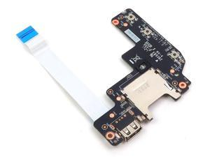 MS-16JB2 MSI PL62 MS-16JD GV62 GE62VR USB Card Reader I/O Board With Cable 607-16JB2-01S I/O Boards- Video Audio USB IR DC TV PWR