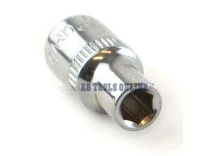 "5mm 1//4/"" Drive Double Deep Metric Socket Single Hex 6 sided Bergen"