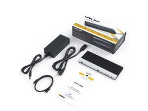 Wavlink USB-C Triple Display ( Dual DP + 1 HDMI) Docking Station with 65W Charging, USB C Gen 2 System, 2 Display Ports & HDMI, 4 USB 3.0, SD/TF Card Reader, Gigabit Ethernet) For MacBook Pro, Windows