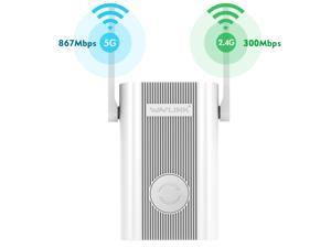 AC1200 WiFi Extender Wavlink Dual Band 2.4GHz and 5GHz Available Wireless Range Repeater Signal Amplifier Booster for Home Office with 2 x External Antennas,WPS, DHCP, Online Firmware Upgrade