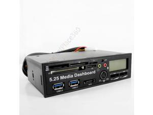 USB 3.0 All in One 5.25 inch Internal Front Panel Media Dashboard Card Reader HUB SATA  for PC Desktop