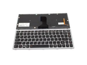 New US Layout Replacement Backlit Laptop Keyboard With Frame For IBM Lenovo IdeaPad P400 (Touch) Z400 (Touch) Z400A Z400P Z400T Z400N T3F1B-US 25206089 25-206089 PK130SW1B00 9Z.N7GBC.U01