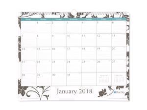 "Blue Sky ""Barcelona"" 15 x 12 Monthly Wall Calendar, January 2018 to December 2018"