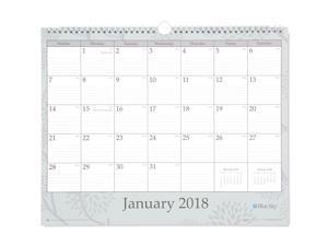 "Blue Sky ""Rue Du Flore"" 15 x 12 Monthly Wall Calendar, January 2018 to December 2018"