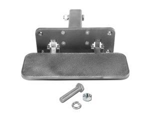 """Universal 2"""" Receiver Heavy Duty Aluminum Tow Towing Trailer Folding Hitch Step Board ( Silver )"""