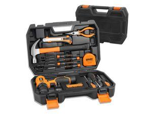 DNA MOTORING Orange 27 PCs 12V 1300mAh Lithium Cordless Drill & Home Hand Repair Kit Combination Tool Set