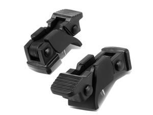 For 07-17 Jeep Wrangler JK Pair Hood Latch Lock Catch+Mount Kit (Matte Black Abs) 08 09 10 11 12 13 14 15 16
