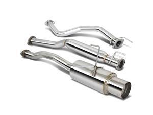 """For 2001 to 2005 Honda Civic Catback Exhaust System 4"""" Tip Muffler - EM ES 02 03 04"""