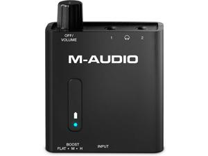 M-AUDIO Bass Traveler Portable Headphone Amplifier with Dual Outputs and 2-Level Boost