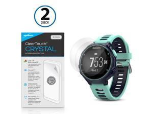 Garmin Forerunner 735XT Screen Protector, BoxWave [ClearTouch Crystal (2-Pack)] HD Film Skin - Shields From Scratches for Garmin Forerunner 735XT