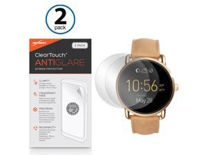 Fossil Q Wander Screen Protector, BoxWave [ClearTouch Anti-Glare (2-Pack)] Anti-Fingerprint Matte Film Skin for Fossil Q Wander, Marshal