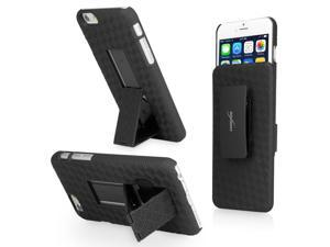 iPhone 6 Holster, BoxWave [Dual+ Holster Case] Shell Cover and Belt Clip Holster with Kickstand for Apple iPhone 6, 6s