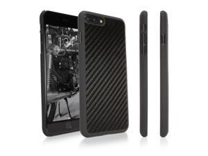 Apple iPhone 7 Plus Case, BoxWave [True Carbon Fiber Minimus Case] Ultra-Strong, Hard Shell Cover for Apple iPhone 7 Plus - Black