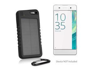 CAT S60 Battery, BoxWave [Solar Rejuva PowerPack (5000mAh)] Solar Powered Backup Power Bank for CAT S60 - Black