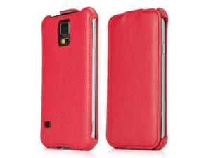 Galaxy S5 Case, BoxWave [Leather Flip Case] Slim Synthetic Leather Hard Case with Soft Lining for Samsung Galaxy S5