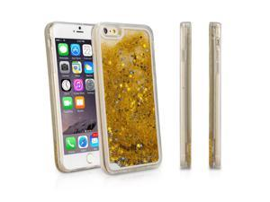 iPhone 6 Plus Case, BoxWave [StarShine Case with BONUS Keychain Charger] Hybrid Hard Shell / TPU Liquid Sparkle Case for Apple iPhone 6 Plus, 6s Plus