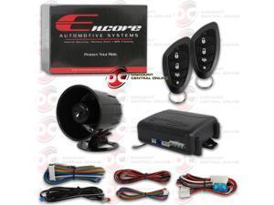 ENCORE E3 3 CHANNEL CAR ALARM SYSTEM WITH 4-BUTTON REMOTE & 2 STAGE SHOCK SENSOR