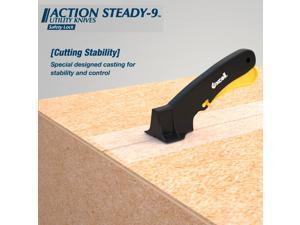 Excell AS-9 Steady Utility Knife: Steady Utility Knife (Black with Yellow trigger)