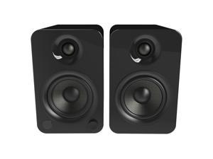 Kanto YU4 Powered Bookshelf Speakers with Built-In Bluetooth - Pair (Gloss Black)