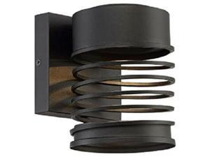 GOOD LUMENS BY MADISON AVENUE OUTDOOR WALL MOUNT LED LIGHT 23645 BLACK