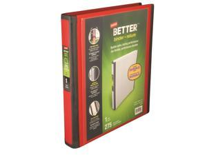 Staples Better 1-Inch D 3-Ring View Binder Red (18370) 807722