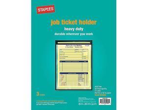 Staples Heavy-Duty Job Ticket Holders, 3/Pack (15949/75255)