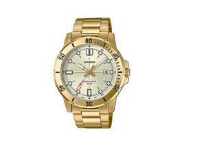 1b7f38de5 Casio Mens 50-meter Water Resistant White Dial Stainless Steel Gold Watch  MTP-VD01G