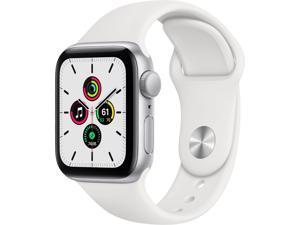 Apple Watch SE 40mm Silver Aluminum - White Sport Band MYDM2LL/A