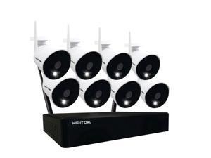 Night Owl CL-2WNP1-8L 10 Channel Wi-Fi NVR with (8) 1080p Wi-Fi IP Spotlight Cameras and 1TB Hard Drive