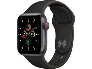 Apple Watch SE Cell 40mm Space Gray Aluminum - Black Sport Band MYED2LL/A