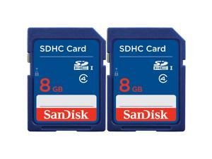 Sandisk SDSDB2-008G-AW46 SDHC 8GB Standard SD, 2-pk