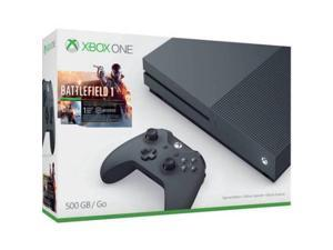 Xbox One S 500GB Video Game Console Battlefield 1 Special Edition Storm Grey