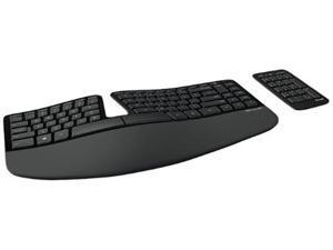 Microsoft 5KV-00001 Wireless Keyboard and Keypad Set - Ergonmic - Black