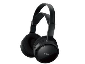 Sony MDR-RF912RK Over-Ear Wireless Radio Frequency Stereo TV Headphone System with 40mm Drivers, Noise Reduction and Long Wireless Range, Black