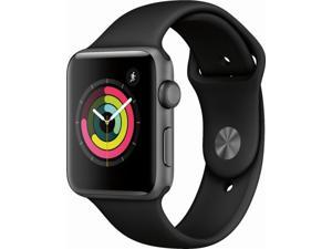 Apple Watch Gen 3 Series 3 42mm Space Gray Aluminum - Black Sport Band MTF32LL/A