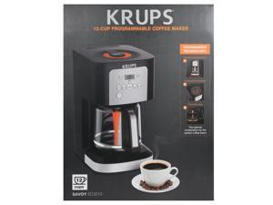 Krups Savoy 12 Cup Programmable Black Coffee Maker EC321050