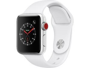 Apple Watch Series 3 38mm GPS + Cellular, Silver Aluminum Case - White Sport Band
