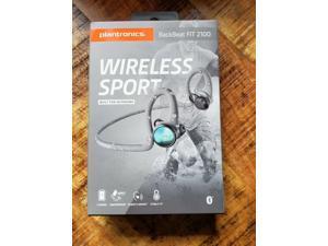 Plantronics 212201-99 BackBeat FIT 2100 Wireless Headphones, Sweatproof and Waterproof in Ear Workout Headphones, Grey