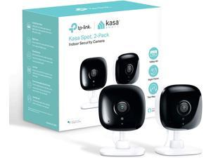 Kasa Smart (KC100P2) Spot Indoor Camera by TP-Link, 1080p HD Smart Home Security Camera with Night Vision, Motion Detection for Pet Baby Monitor, Works with Alexa Echo & Google Home (2-Pack)