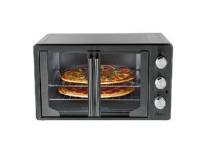 Oster 31160840 Metallic & Charcoal French Door Oven with Convection Charcoal Gray