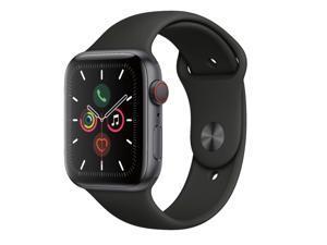Apple Watch Gen 5 Series 5 Cell 44mm Space Black Aluminum - Black Sport Band MWW12LL/A