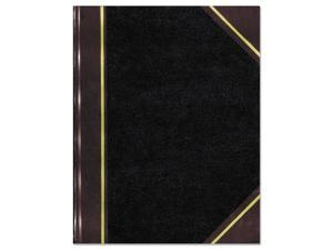 National Texthide Notebook Black/Burgundy 500 Pages 14 1/4 x 8 3/4 57151