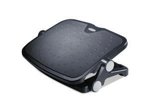 Alera Soft Cushioned Ergonomic Footrest, 14w x 19 5/8d x 3 3/4 to 7 1/2h, Black